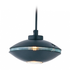 Lite Source Lighting Espace Black Mini-Pendant Light with Oval Shade