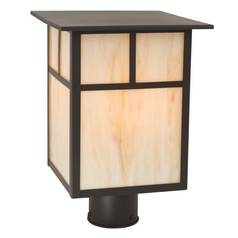 Craftsman Style Outdoor Post Light 13-Inches Tall