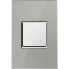 Legrand Adorne Brushed Stainless 1-Gang Switch Plate