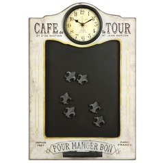 Uttermost Cafe de la Tour Chalkboard and Clock