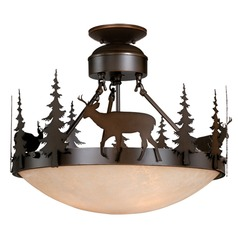 Bryce Burnished Bronze Semi-Flushmount Light by Vaxcel Lighting