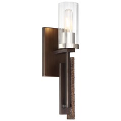Minka Lavery Maddox Roe Iron Ore with Gold Dust Highlight Sconce