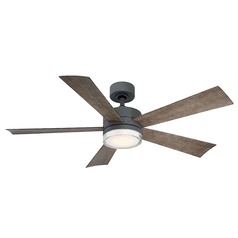 Modern Forms Graphite 52-Inch LED Smart Ceiling Fan 1600LM 3000K