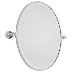Oval 19-1/2-Inch Mirror