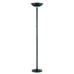 Modern Torchiere Lamp in Black Finish