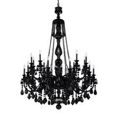 Crystal Black Chandelier - Lighting - Shopping.com