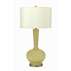 Table Lamp with Beige / Cream Shade in Butter Finish