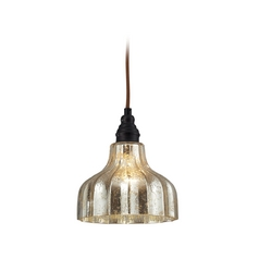 Elk Lighting Danica Mini-Pendant Light with Mercury Glass