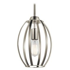 Transitional Pendant Light Brushed Nickel Tao by Kichler Lighting