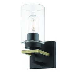 Golden Lighting Tribeca Black Sconce
