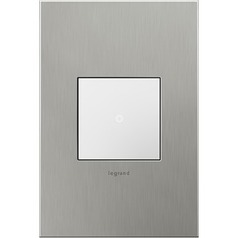 Legrand Adorne Brushed Stainless Steel 1-Gang Switch Plate