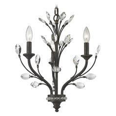 Elk Lighting Crystal Branches Burnt Bronze Mini-Chandelier