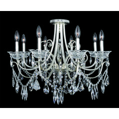 Brunetti 8 Light Flush Mount Crystal Chandelier