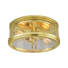 Elk Lighting Coby Polished Gold Flushmount Light