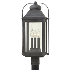 Colonial LED Post Light Aged Zinc by Hinkley Lighting