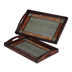 Decorative Serving Trays - Set of Two