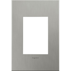 Legrand Adorne Brushed Stainless Steel 1-Gang 3-Module Switch Plate