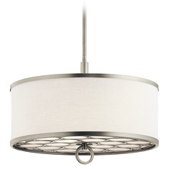 Kichler Lighting Melrose Brushed Nickel Pendant Light with Drum Shade