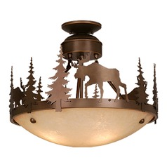 Yellowstone Burnished Bronze Semi-Flushmount Light by Vaxcel Lighting