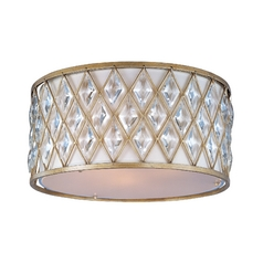 Maxim Lighting Diamond Golden Silver Flushmount Light