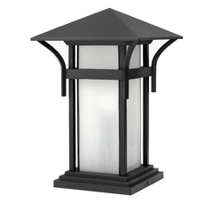 Etched Seeded Glass Pier Light Black Hinkley Lighting