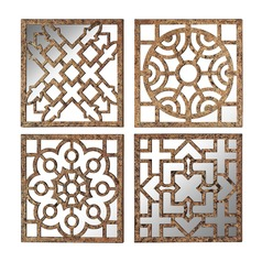 Set Of 4 Mirrored Wall Panels