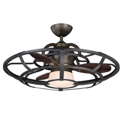 Savoy House Reclaimed Wood Ceiling Fan with Light