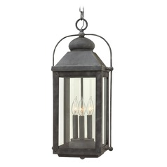 Colonial LED Outdoor Hanging Light Aged Zinc by Hinkley Lighting