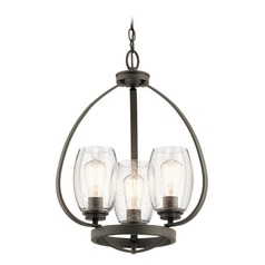 Seeded Glass Mini-Chandelier Olde Bronze Tuscany by Kichler Lighting