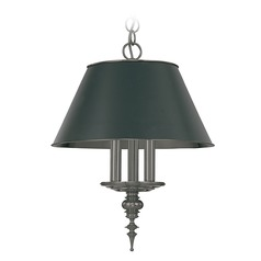 Drum Pendant Light in Antique Nickel Finish