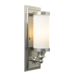 Tech Bridgeport Satin Nickel Sconce
