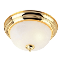 Livex Lighting Regency Polished Brass Flushmount Light