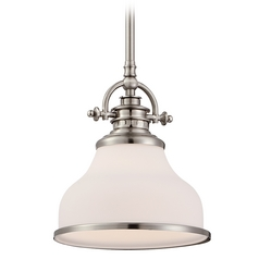 Farmhouse Mini-Pendant Light Brushed Nickel Grant by Quoizel Lighting