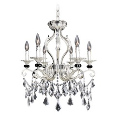 Allegri Donizetti 6-Light Crystal Chandelier in 2-Tone Silver