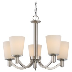 Nuvo Lighting Laguna Brushed Nickel Chandelier