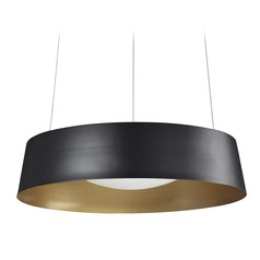 Modern Black and Gold LED Pendant 3000K 955LM