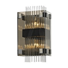 Troy Lighting Apollo Dark Bronze / Chrome Sconce