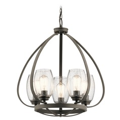 Seeded Glass Chandelier Olde Bronze Tuscany by Kichler Lighting