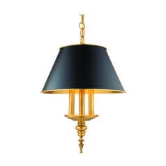 Drum Pendant Light in Aged Brass Finish