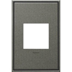 Legrand Adorne Brushed Pewter 1-Gang Switch Plate