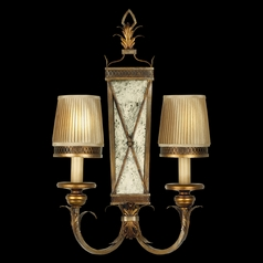 Fine Art Lamps Newport Burnished Gold with Silver Highlights Sconce