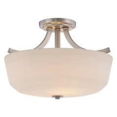 Nuvo Lighting Laguna Brushed Nickel Semi-Flushmount Light