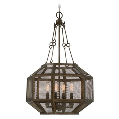 Savoy House Lighting Armour Galaxy Bronze Pendant Light with Octagon Shade