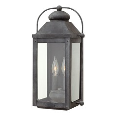Colonial LED Outdoor Wall Light Aged Zinc by Hinkley Lighting
