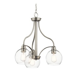 Transitional Chandelier Brushed Nickel Harmony by Kichler Lighting