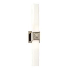 Auburn Polished Nickel Bathroom Light - Vertical or Horizontal Mounting