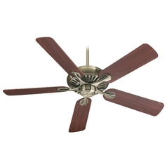 Quorum Lighting Pinnacle Antique Brass Ceiling Fan Without Light