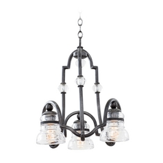 Kalco Lighting Hemmingray Vintage Iron Mini-Chandelier