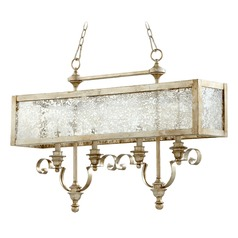 Quorum Lighting Champlain Aged Silver Leaf Island Light