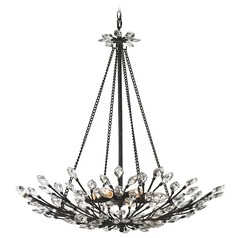 Elk Lighting Crystal Branches Burnt Bronze Pendant Light